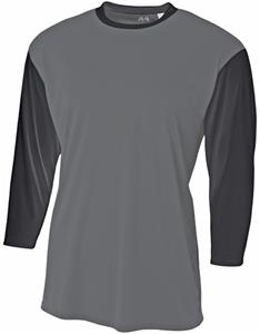 A4 Adult/Youth Polyester 3/4 Sleeve Utility Shirt