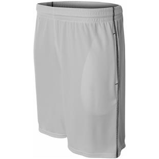 "A4 Mens 9"" Pocketed Short w/Contrast Stitching"