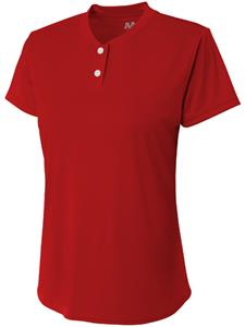 A4 Womens/Girls Tek 2 Button Henley Softball Shirt