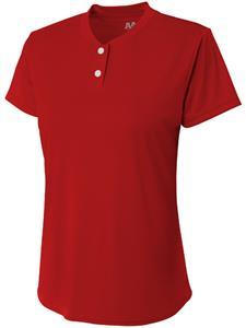A4 Womens/Girls Tek 2 Button Henley Softball Shirt