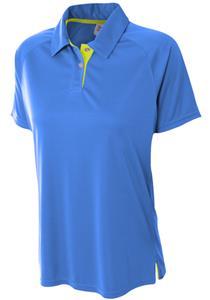 A4 Women's Polyester Contrast Polo Shirt