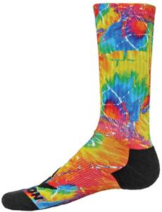 Red Lion Tie Dyed Sublimated Burst Crew Socks