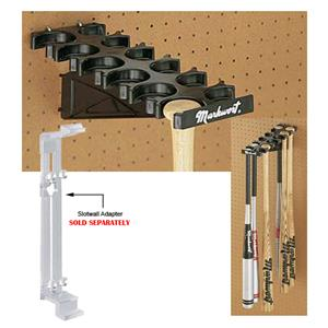 Markwort Baseball Bat Racks for Pegboard Walls