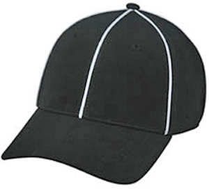 Umpire/Officials Poly Stretch Fit Sports Ball Caps