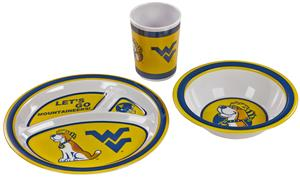 West Virginia Mountaineers Kid's 3 Pc. Dish Set