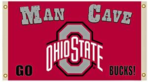 NCAA Ohio State Buckeyes 3' x 5' Man Cave Flag