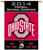 NCAA Ohio State Buckeyes Champ Years House Banner