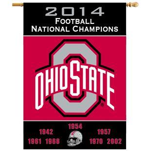 NCAA Ohio State Buckeyes Champ Years House Banner