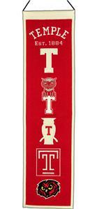 Winning Streak NCAA Temple Heritage Banner