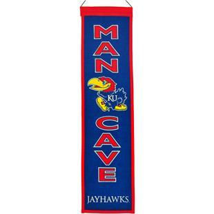 Winning Streak NCAA Kansas Man Cave Banner