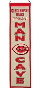 Winning Streak MLB Cincinnati Reds Man Cave Banner