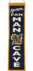 Winning Streak MLB Brewers Man Cave Banner
