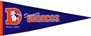 Winning Streak NFL Broncos Throwback Pennant