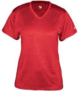 Badger Pro Heather Ladies' V-Neck Tee Shirt