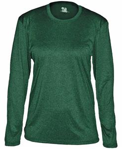 Badger Pro Heather Ladies' Long Sleeve Tee Shirt