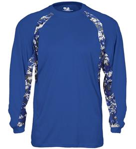 Badger Adult Digital Hook Long Sleeve Tee Shirt