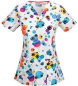 Code Happy Island Oasis V-Neck Scrub Top