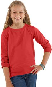 LAT Sportswear Girls Terry Slouchy Pullover