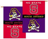 NCAA Nc State - E. Carolina House Divided Banner