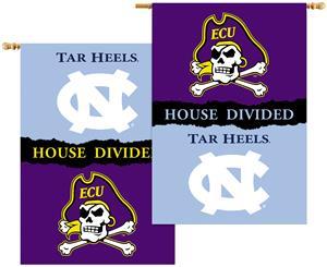NCAA E. Carolina N. Carolina House Divided Banner