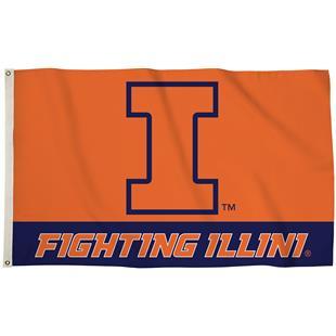 COLLEGIATE Illinois Fighting Illini 3' x 5' Flag
