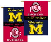 COLLEGIATE Michigan/Ohio St. House Divided Banner