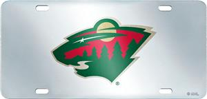 NHL Minnesota Wild License Plate Inlaid