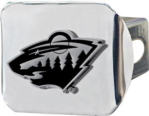 Fan Mats NHL Minnesota Wild Chrome Hitch Cover
