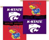 COLLEGIATE Kansas/Kansas St. House Divided Banner