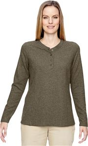 North End Ladies Excursion Nomad Waffle Henley