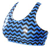 Pizzazz Chevron Metallic Sports Bra