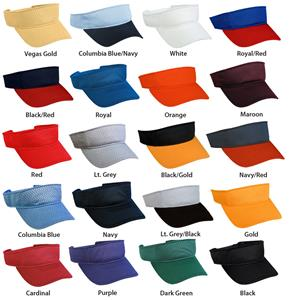 Adjustable Adult or Youth Mesh Visors 20 Colors