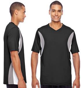 Team 365 Mens Short-Sleeve Athletic V-Neck Jersey