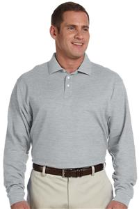 Devon & Jones Mens Pima Piqué Long-Sleeve Polo
