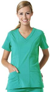 Maevn EcoFlex Women's Curved V-Neck Scrub Tops