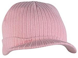 Outdoor Pink Cotton/Polyester Knit with Visor