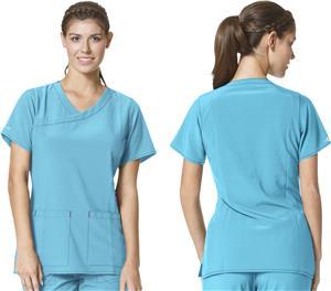 Carhartt Women's Y-Neck Fashion Scrub Top