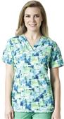 Carhartt Cross-Flex Women's V-Neck Print Scrub Top