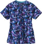 Carhartt Women's V-Neck Print Cool Camo Scrub Top