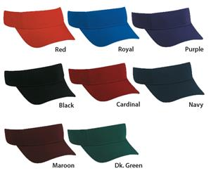 "Adjustable Polyester/Spandex 2 1/4"" Crown Visors"