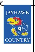 College Kansas Jayhawk 2-Sided Country Garden Flag