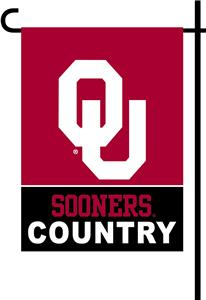 College Oklahoma 2-Sided Country Garden Flag