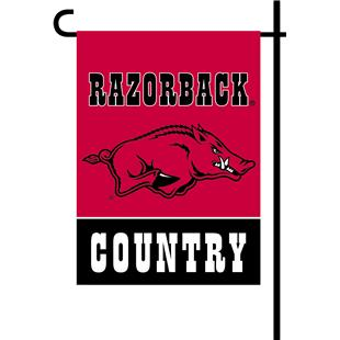 College Arkansas 2-Sided Country Garden Flag