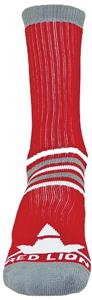 "Red Lion ""Prime Numbers"" Red/Grey Crew Socks"