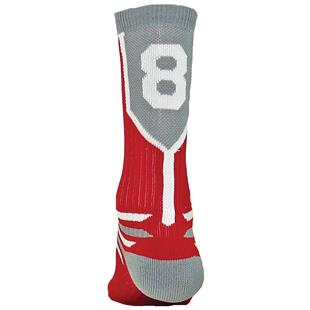 """Red Lion """"Prime Numbers"""" Red/Grey Crew Socks"""