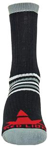 "Red Lion ""Prime Numbers"" Black/Grey Crew Socks"