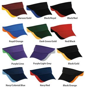 Adjustable Polyester Wicking Fabric 2-Tone Visors