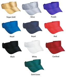 Adjustable Dazzle Polyester Visors 10 Colors