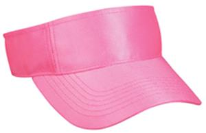 Pink Adjustable Dazzle Polyester Womens Visor