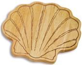 Picnic Plus Sea Shell Wood Cutting  Board